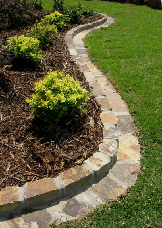 Landscaping - Natural stone garden edging ...